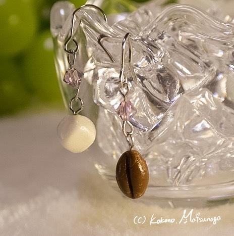 コーヒー豆と角砂糖